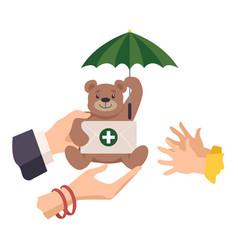 Health insurance for kids vector