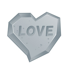 Heart shaped rock vector