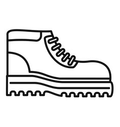 Hiking boot icon outline style vector
