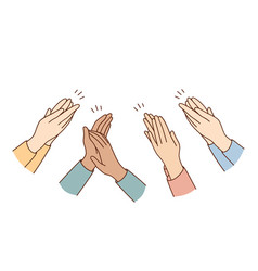 Human hands clapping and applauding concept vector