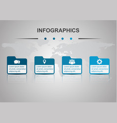 infographic design template with folders vector image
