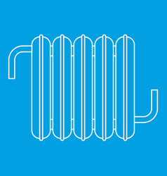 Iron central heating battery icon outline style vector
