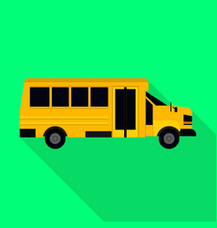 kids bus of school icon flat style vector image