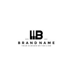 Letter b piano logo design vector