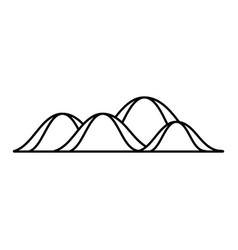 Line beauty mountain ecology nature style vector
