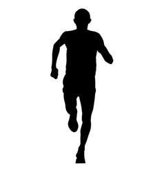 male runner leader vector image