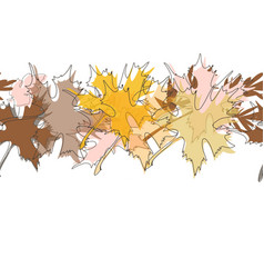 maple fall leaves background autumn in foliage vector image