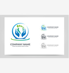 Massage therapy logo design editable logo design vector