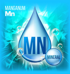 mn manganum mineral blue drop icon vector image