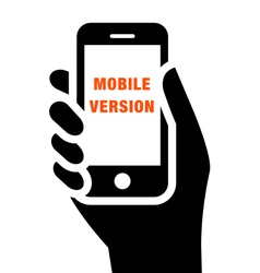 Mobile website icon vector image