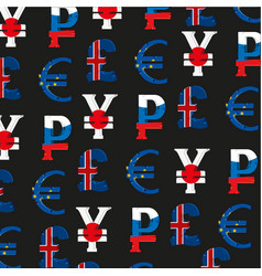 Money signs of the different countries vector