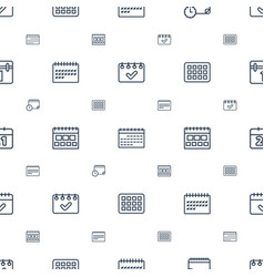 Month icons pattern seamless white background vector