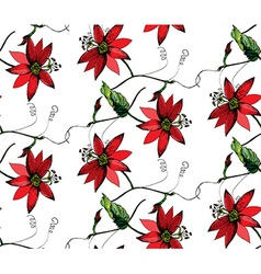 Passiflora pattern vector image