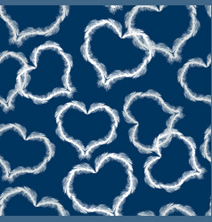 pattern of feathers in the form of hearts vector image