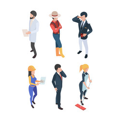 people isometric professions job persons vector image