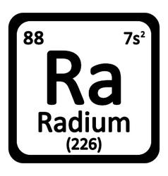 Periodic table element radium icon vector
