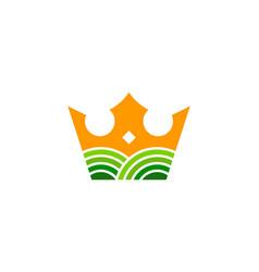 Royal farm logo icon design vector