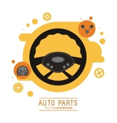 Rudder icon Auto part design graphic vector image