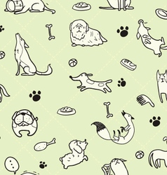 Seamless Dogs pattern D vector