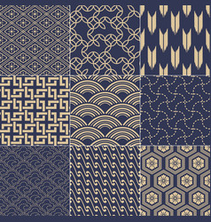 seamless japanese vintage traditional mesh pattern vector image