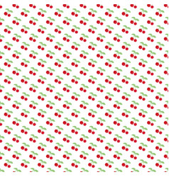 Seamless pattern with berry cherry endless vector