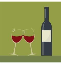 Serving wine vector