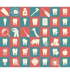 Set dental icons vector image