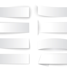 Set of blank paper banners with realistic shadows vector image