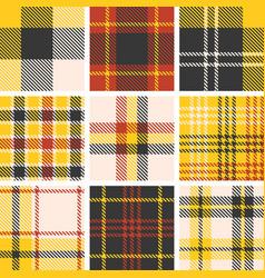 Set of tartan seamless pattern vector