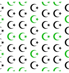 Star and crescent symbol seamless pattern vector image