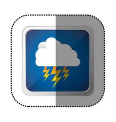 symbol cloud ray icon vector image