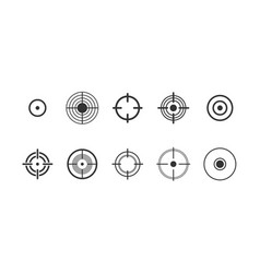 target pain circle glyph icons set vector image