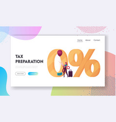 tax free and duty free shopping zone landing page vector image