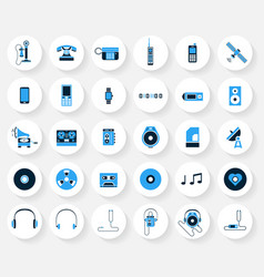 technology and media icons vector image