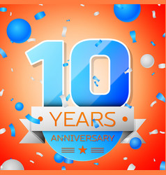 Ten years anniversary celebration vector