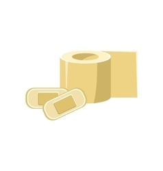 Toilet Paper And Band-aids Simplified Icon vector