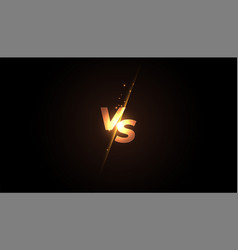 Versus vs screen banner design for battle or vector