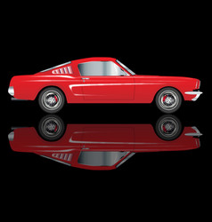 Very fast red car vector