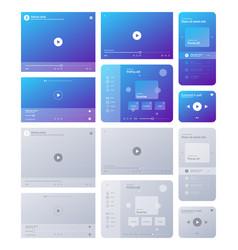 web player interface video tube music radio vector image