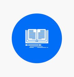 Writing novel book story vector