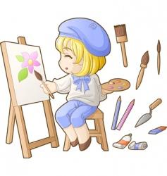chibi professions sets artist vector image vector image