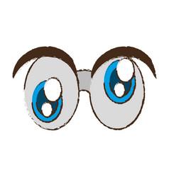 crazy eyes april fools image vector image