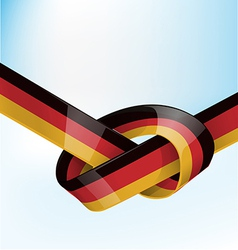 germanic ribbon flag on sky background vector image