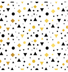gold black and white vintage geometric vector image vector image