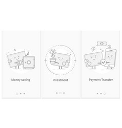 money and mobile transfer financial investments vector image