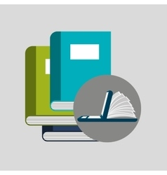 online learning books education vector image