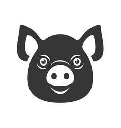 pig icon dark logo on white background vector image