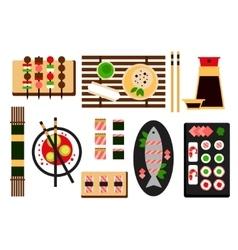 Restaurant asian cuisine flat icon vector image vector image