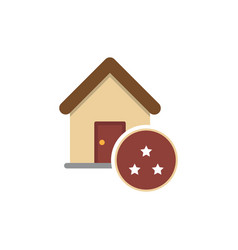Star icon with house vector