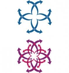 abstract arrow logos vector image vector image